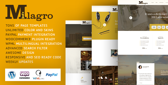 Milagro – Learning and Courses WordPress Theme