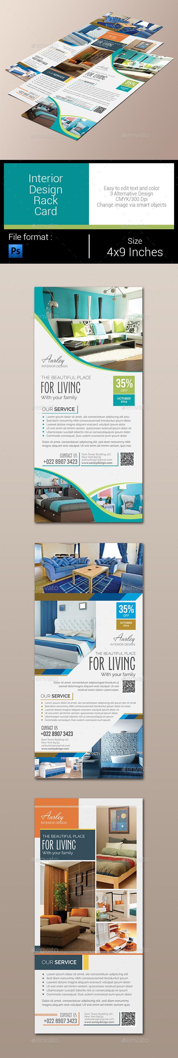 Interior Design Rack Card - Corporate Flyers