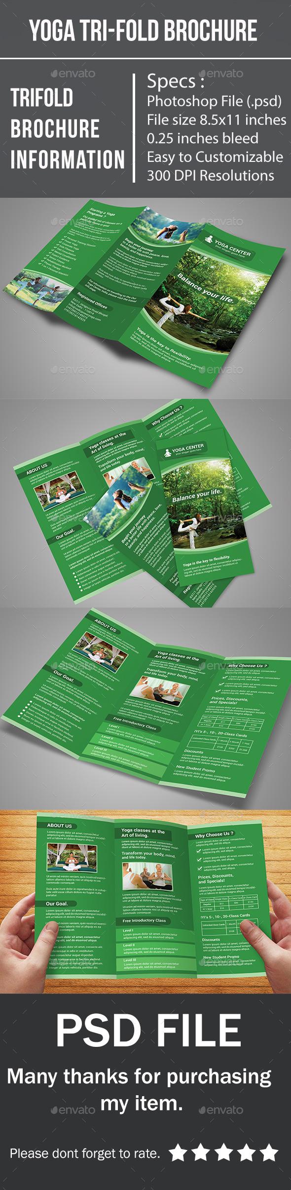 Yoga Tri-Fold Brochure - Corporate Brochures