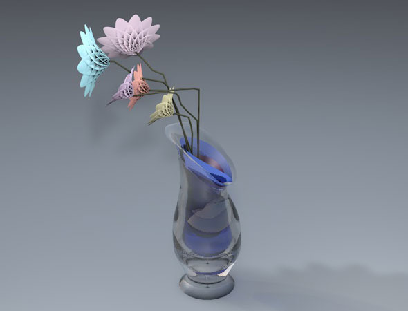vase and flowers  - 3DOcean Item for Sale