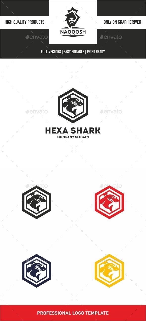 Hexa Shark  - Logo Templates
