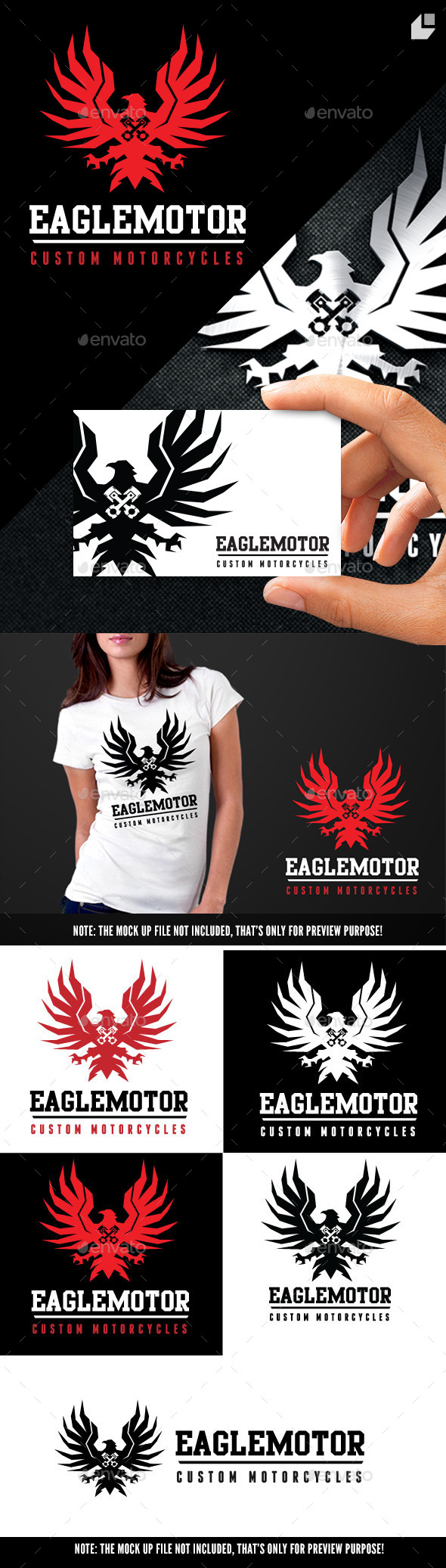 Eagle Motor - Crests Logo Templates