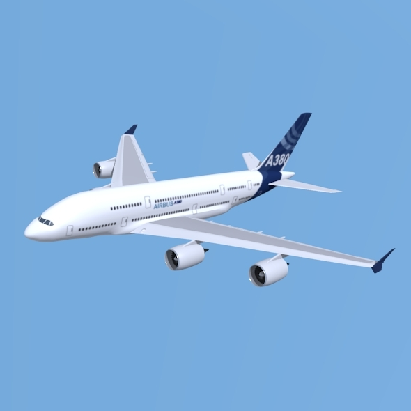 Airbus A380 giant aircraft enhanced - 3DOcean Item for Sale