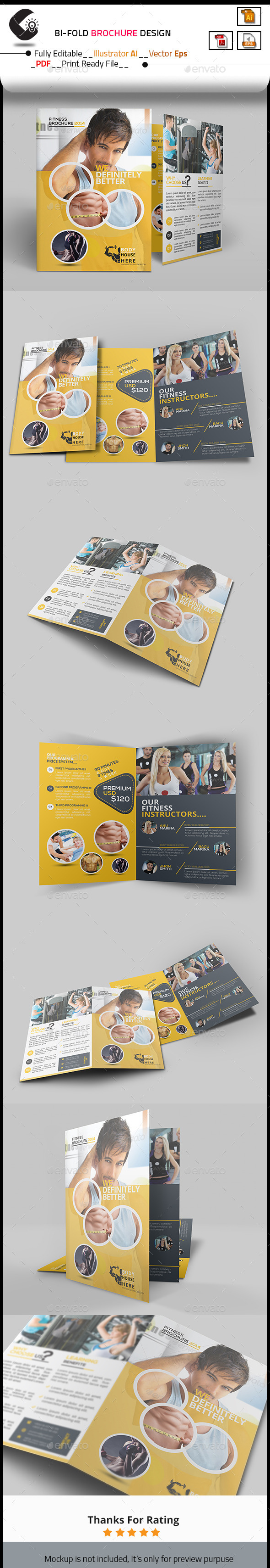 Fitness Bi-Fold Brochure - Corporate Brochures