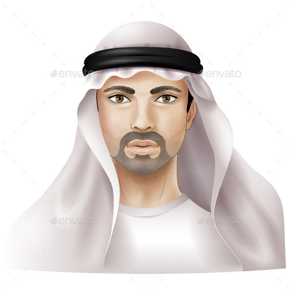 Man in Keffiyeh - People Characters