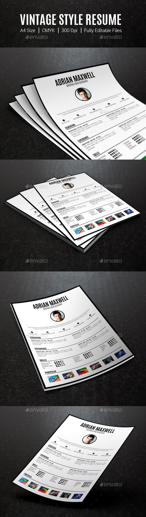 Vintage Style Resume - Resumes Stationery