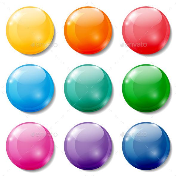 Colored Buttons - Miscellaneous Vectors