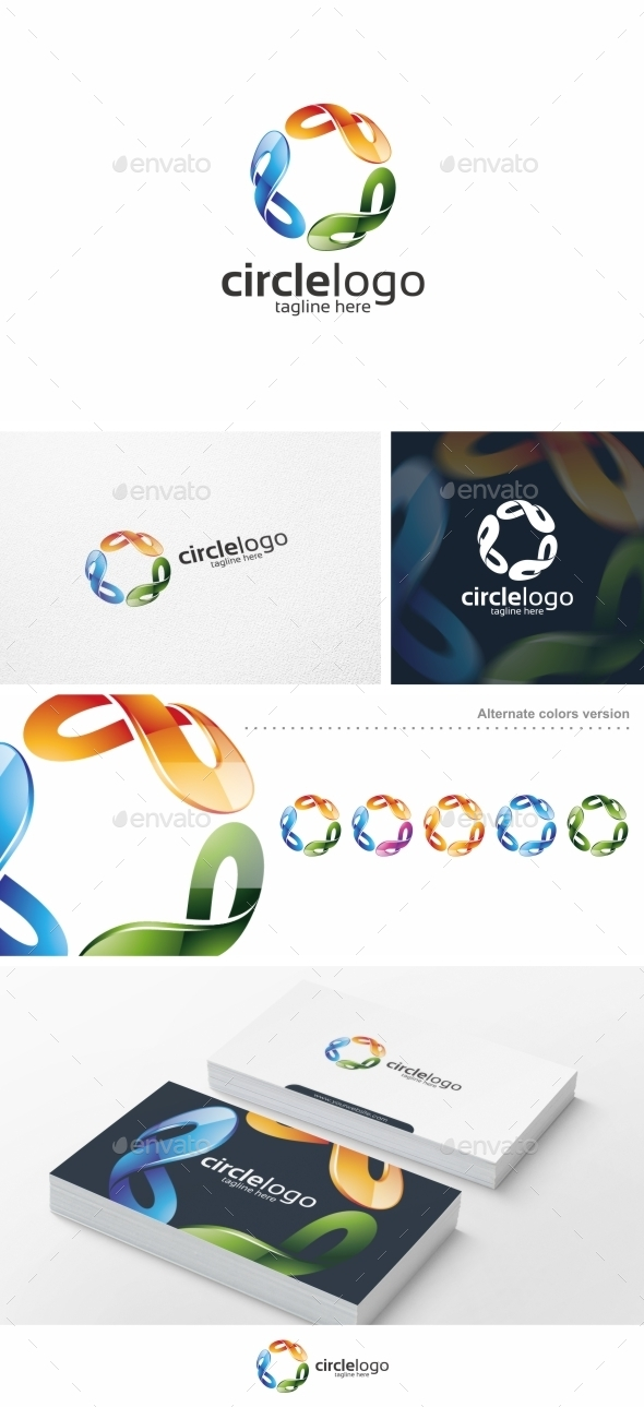 Colorful Circle Vol. 02 - Logo Template - Abstract Logo Templates