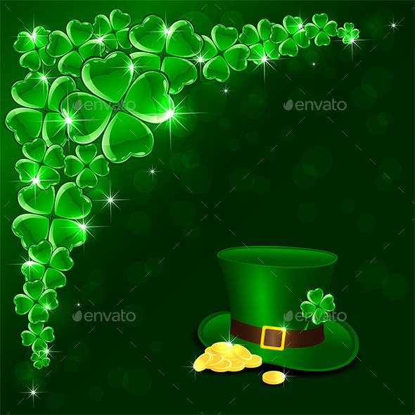 Patricks Day Green Background - Backgrounds Decorative