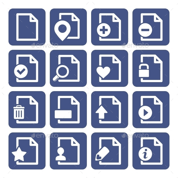File Management Icons Set - Web Icons
