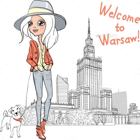 Fashion Girl in Warsaw - People Characters