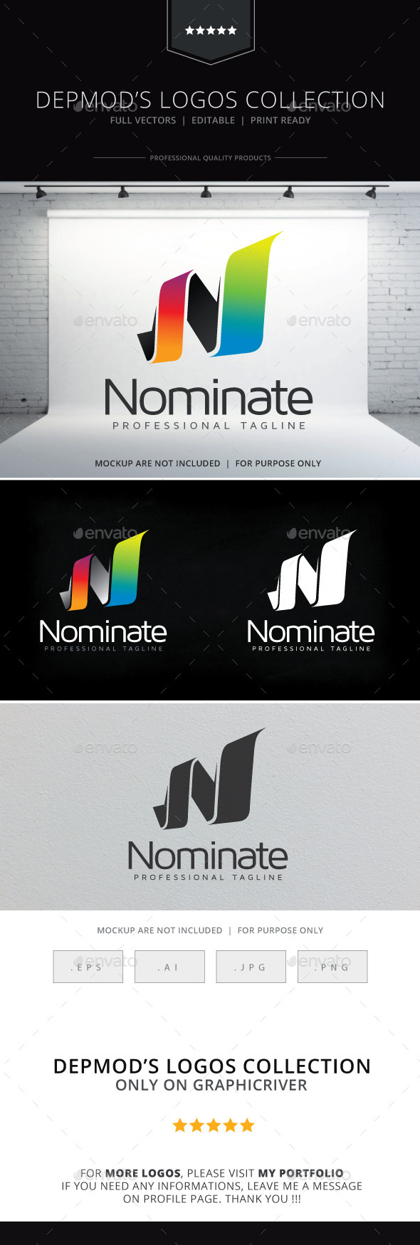 Nominate Logo - Letters Logo Templates