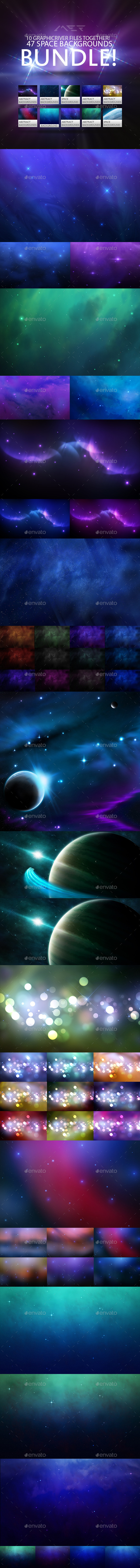 Space Backgrounds Mega Bundle - Abstract Backgrounds