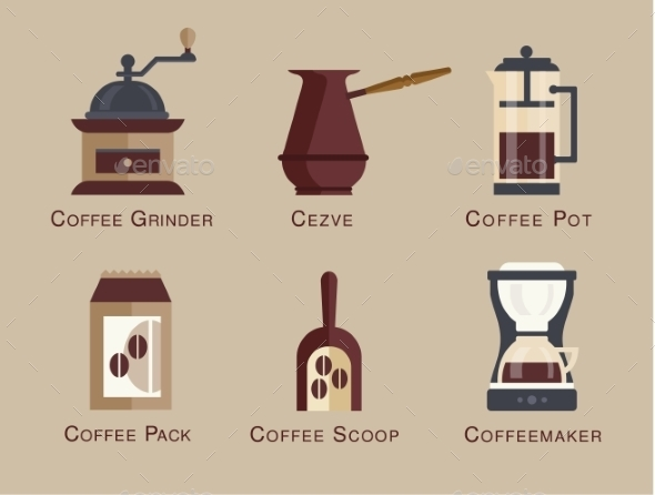 Coffee Shop Icons - Food Objects