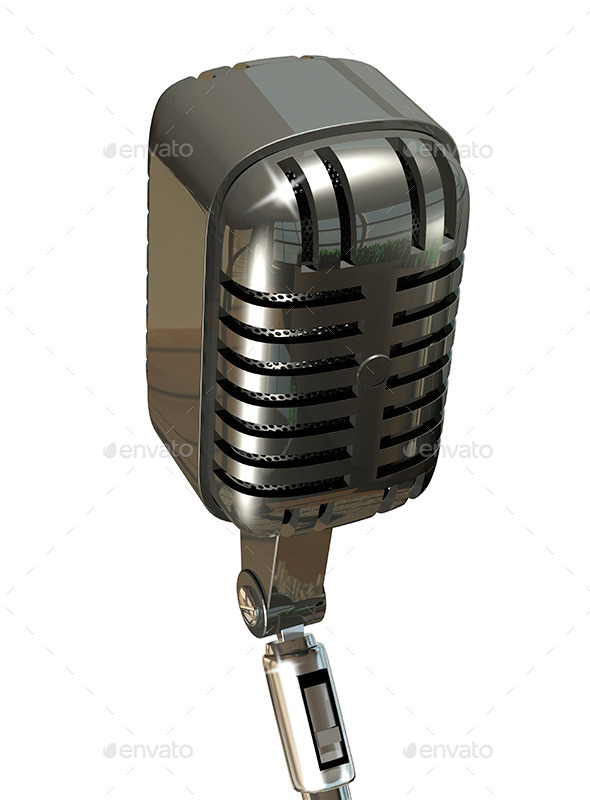 Microphone - Objects 3D Renders