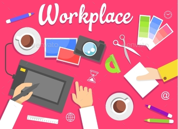 Workplace Concept - Backgrounds Business