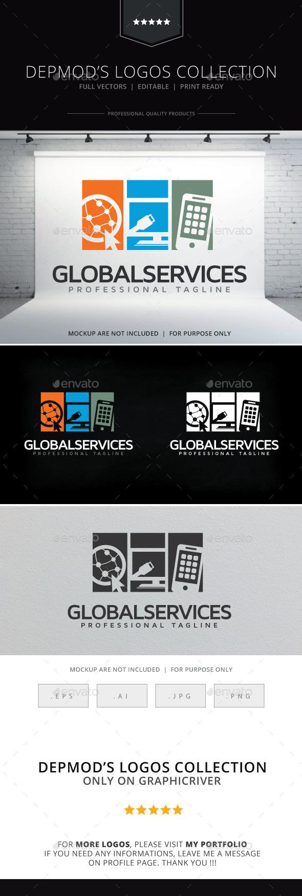 Global Services Logo - Symbols Logo Templates