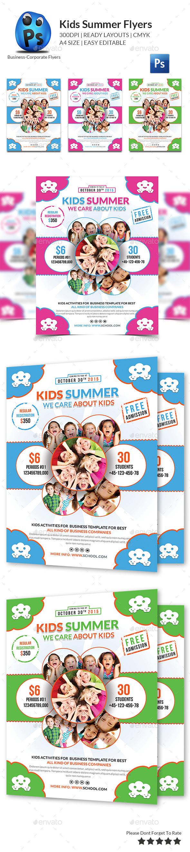 Kids Summer Flyers - Corporate Flyers