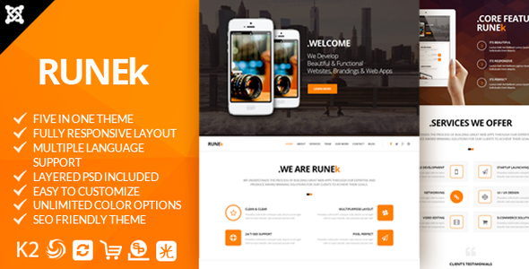 Runek – Multipurpose and Responsive Joomla theme