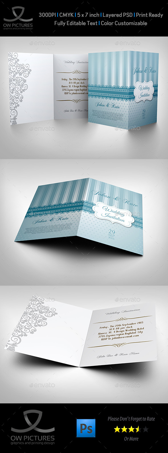 Wedding Invitation Card Template Vol.9 - Weddings Cards & Invites