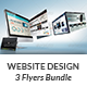 Website Design Agency 3 Flyer Bundle - GraphicRiver Item for Sale