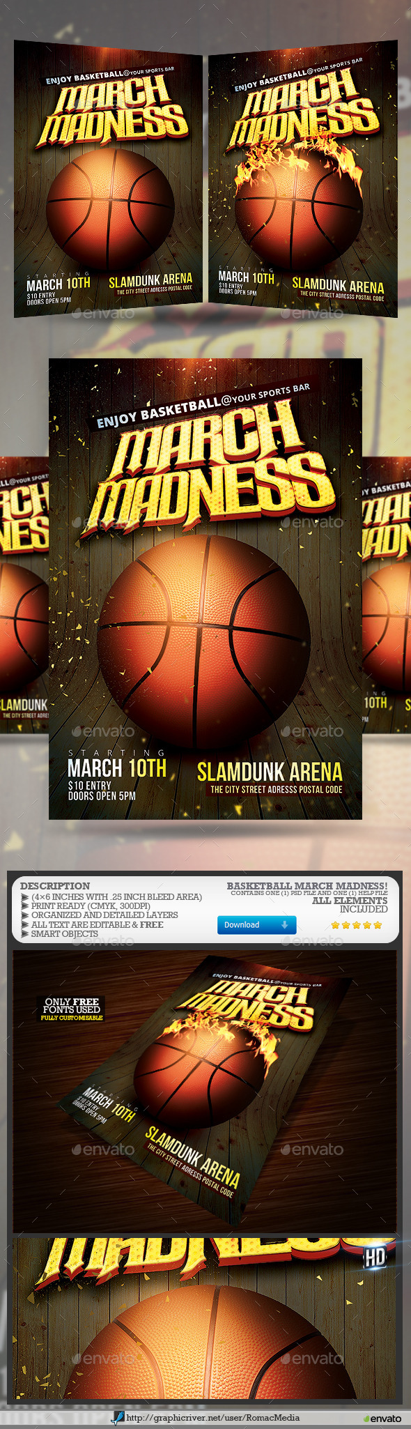Basketball March Madness Flyer - Sports Events