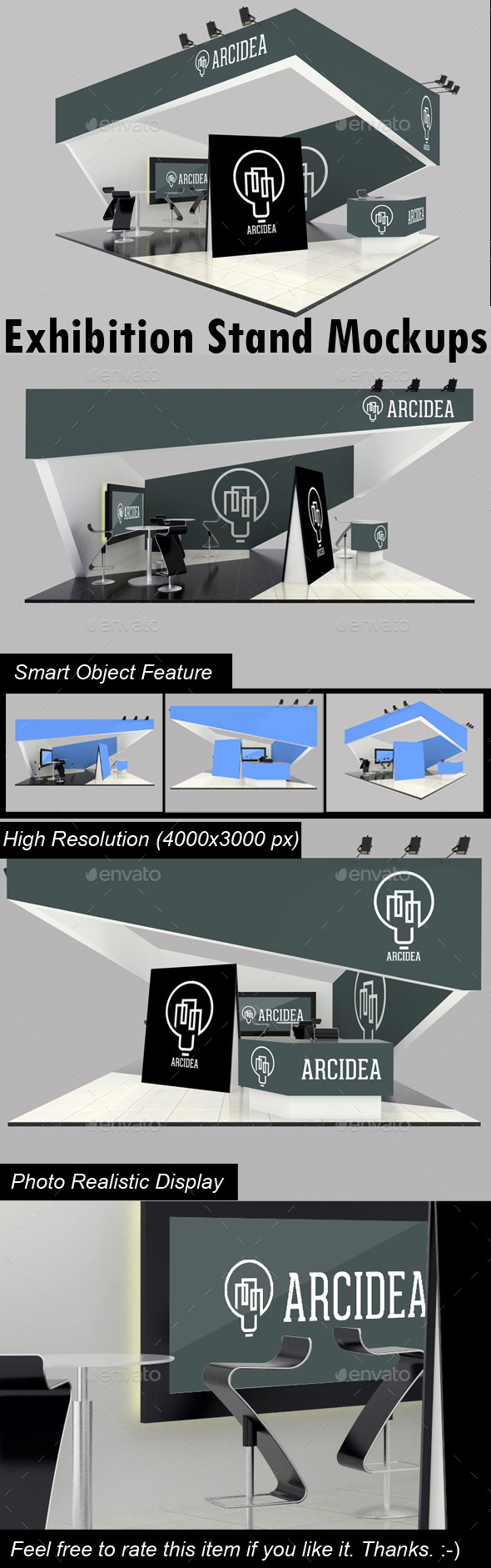 Exhibition Stand Mockups - Product Mock-Ups Graphics