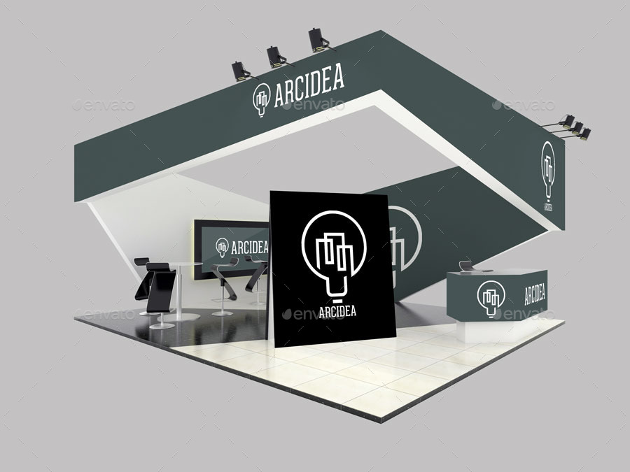Simple Exhibition Stand Mockup : Exhibition stand mockups by anshar official graphicriver