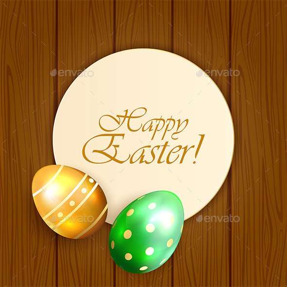 Easter Card with Eggs - Backgrounds Decorative