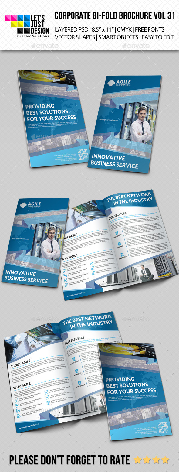 Creative Corporate Bi-Fold Brochure Vol 31 - Corporate Brochures