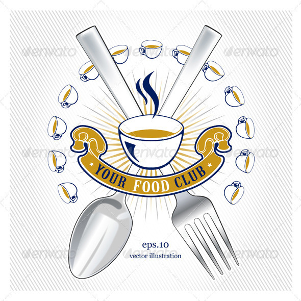 Spoon Fork Emblem - Food Objects