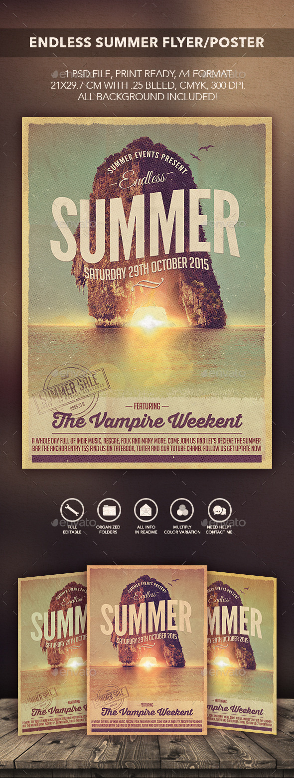 Endless Summer Flyer/Poster