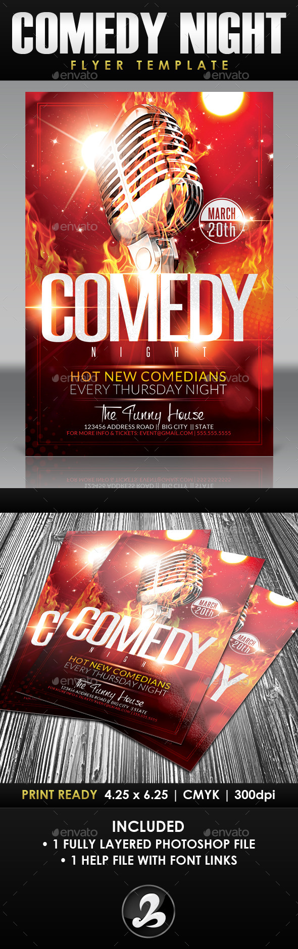 Comedy Night Flyer Template 3 - Events Flyers