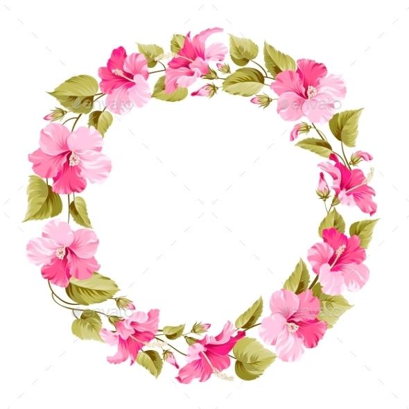 Floral Wreath. - Borders Decorative