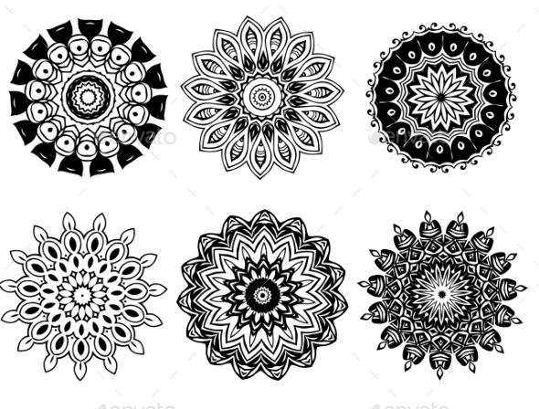 Mandalas - Flowers & Plants Nature