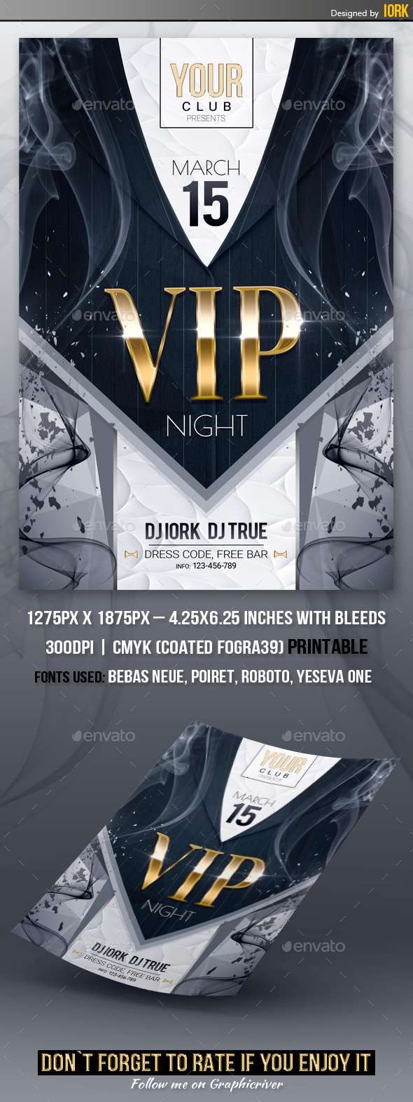 VIP Night Party Flyer - Flyers Print Templates