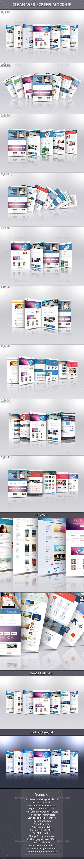 Clean Web Screen Mock-Up - Website Displays