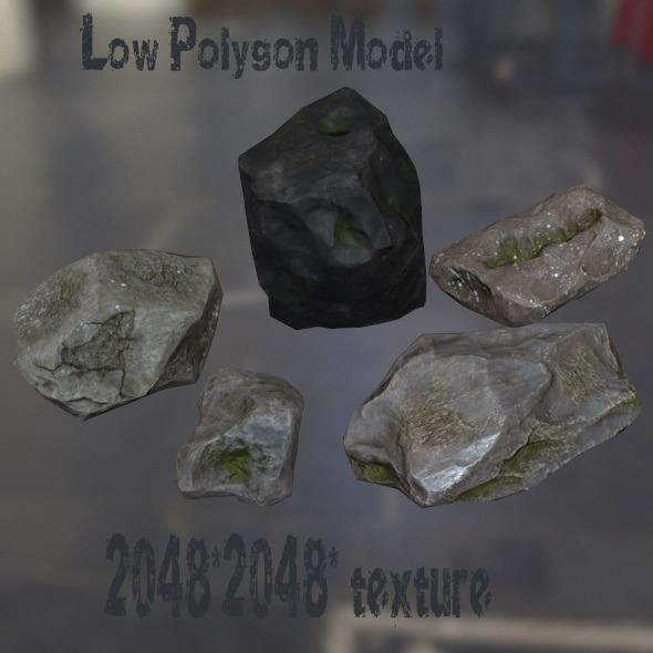 Rock_Set_12 - 3DOcean Item for Sale