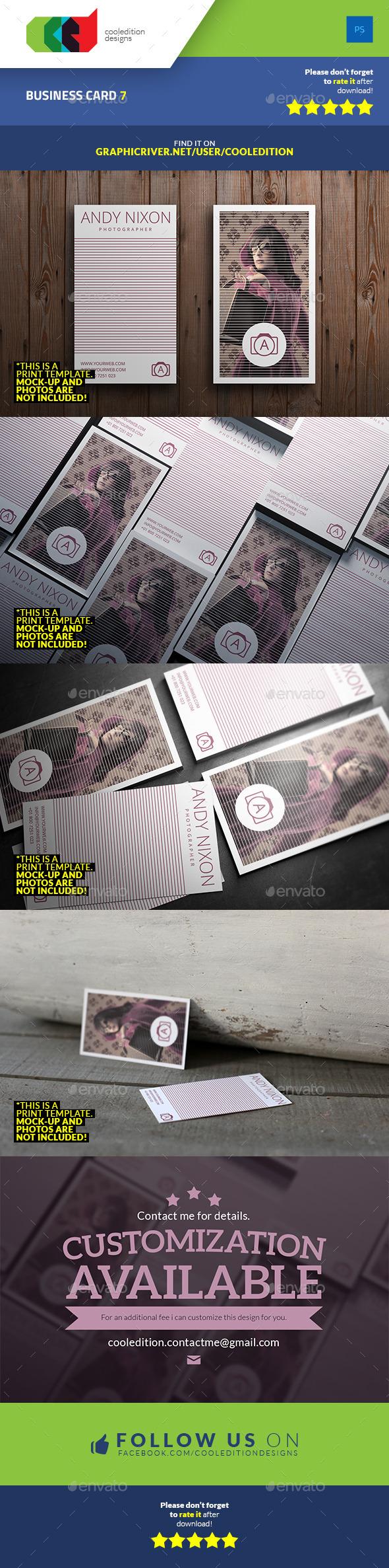 Business Card 7 - Retro/Vintage Business Cards