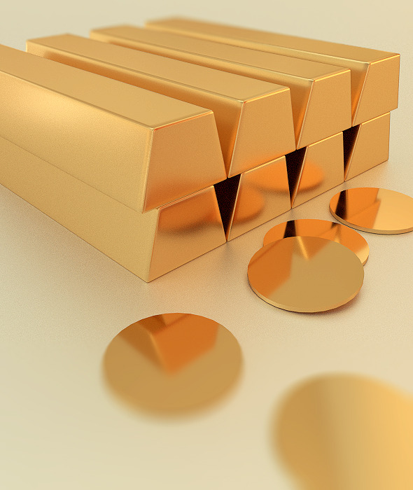 Golden Bars - 3DOcean Item for Sale