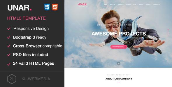 Unar – Creative HTML5 Template