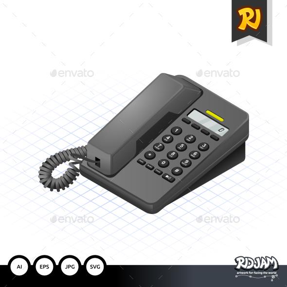 Isometric Telephone - Communications Technology
