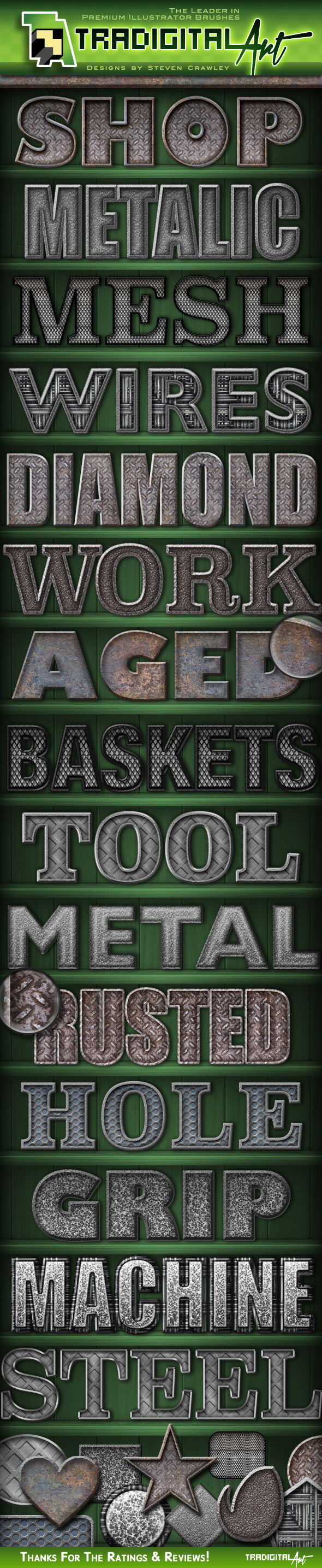 Metal Shop PS Styles - Text Effects Styles