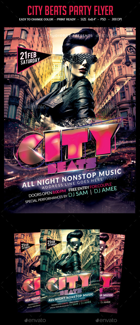 City Beats Party Flyer - Clubs & Parties Events