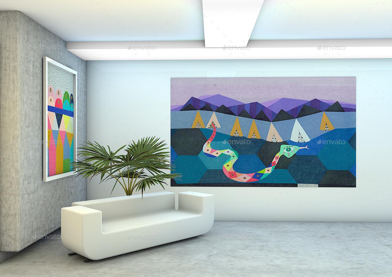 100 wall design mockup wall calendar square mock ups produc
