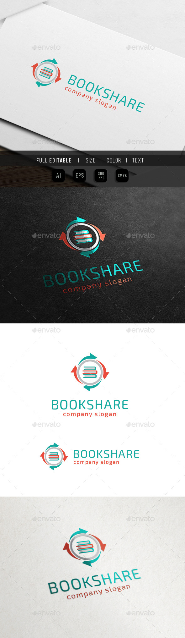Book Share - Learning / Tutorial Blog - Objects Logo Templates