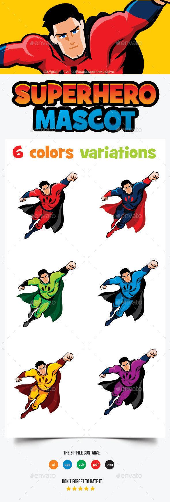 Superhero Mascot - People Characters