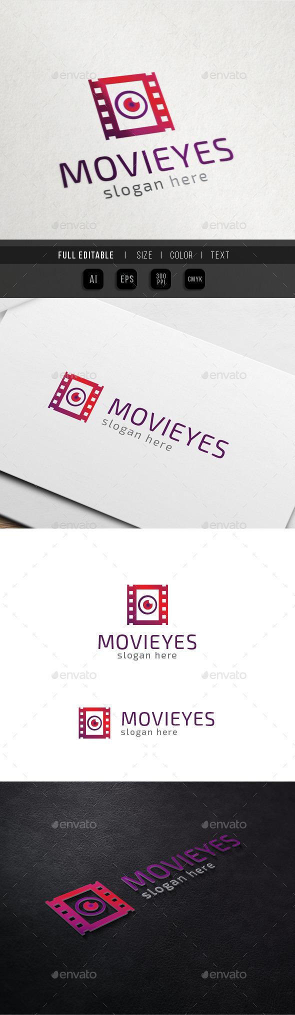 Movie Vision - Eye Media - Filmography - Symbols Logo Templates