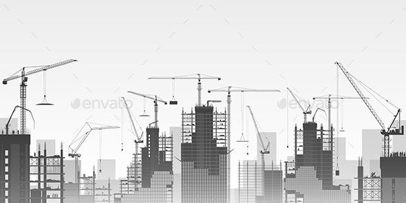 Tower Cranes - Miscellaneous Vectors