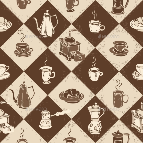 Caffe Pattern - Patterns Decorative
